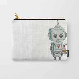 The feeling when your cute little robot brings you a cupcake in the morning :) Carry-All Pouch