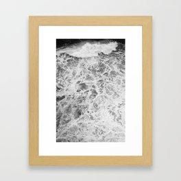The Waves (Black and White) Framed Art Print