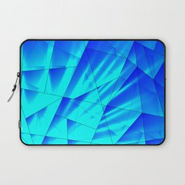 Bright sunshine on celestial and blue triangles of irregular shape. Laptop Sleeve