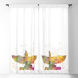 Egyptian goddess isis in watercolor Blackout Curtain