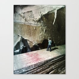 House Disaster Art -  Thinking It Through Canvas Print