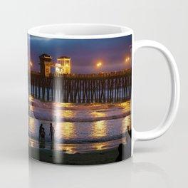 Pier At Night Coffee Mug