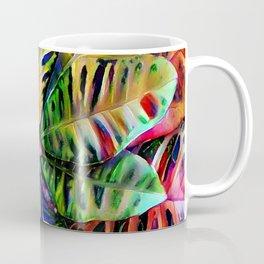Colorful Tropical Leaves Coffee Mug