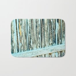 Abstract Wood Bath Mat