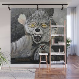 Wolf Play Wall Mural