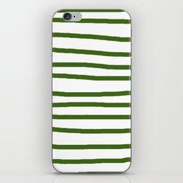 Simply Drawn Stripes in Jungle Green iPhone Skin