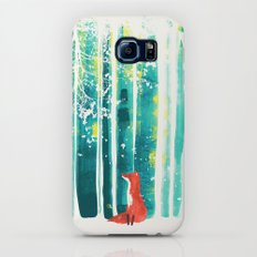 Fox in quiet forest Slim Case Galaxy S8