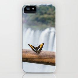 Butterfly over Iguazu Falls, Argentina iPhone Case