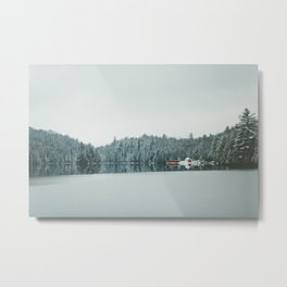 Frozen Lake in Canada Metal Print