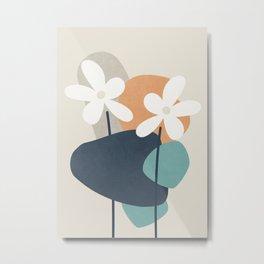 Abstract Flowers 3 Metal Print