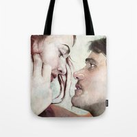 eternal sunshine Tote Bags featuring  Eternal Sunshine of the Spotless Mind Art by Vlad Rodriguez