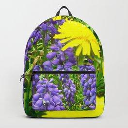 Field of Flowers, Dandelions and Bluebonnets Backpack