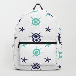 AFE Nautical Helm Wheels & Starfish Backpack