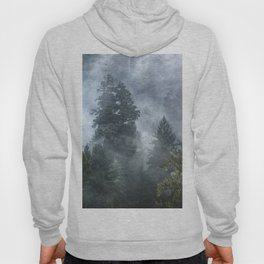 Smoky Redwood Forest Foggy Woods - Nature Photography Hoody