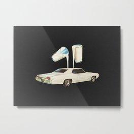 White Car Metal Print