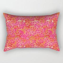 Handblock Printed Floral Rectangular Pillow