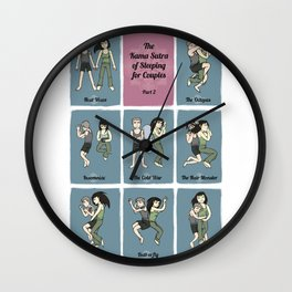 The Kama Sutra of Sleeping for Couples Part 2 Wall Clock