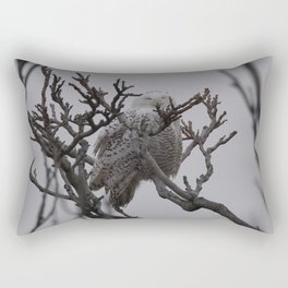 Snowy Owl in Tree Rectangular Pillow