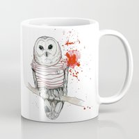 number Mugs featuring Number One by Stroke a Bird