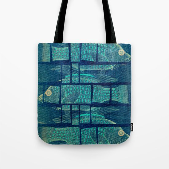 Fish Under Strong Radiation Tote Bag
