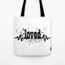 Loved Splatter Print Tote Bag