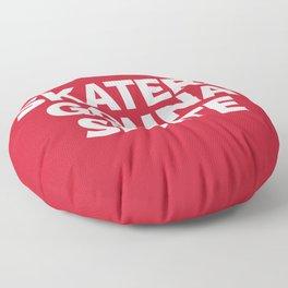 Skaters Gonna Skate Quote Floor Pillow