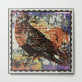 Raven - Posterized Metal Print