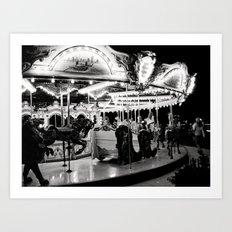 Navy Pier's Carousel at Night Art Print