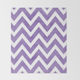 purple chevron Throw Blanket