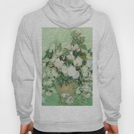 Vase With Pink Roses by Vincent Van Gogh Hoody