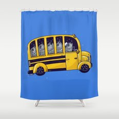 Off to School Shower Curtain