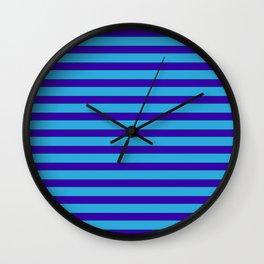 Blue Berry Stripe Wall Clock