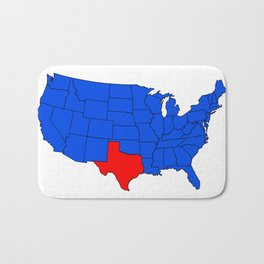 The State of Texas Position Bath Mat