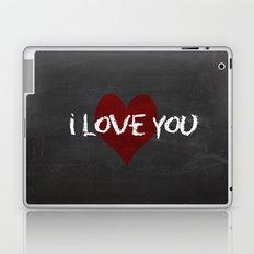 Valentines I love you Chalkboard Design Laptop & iPad Skin