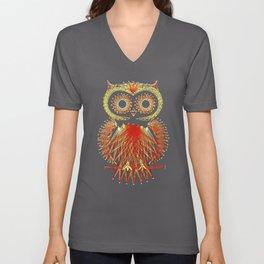 String Art Owl Unisex V-Neck