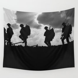 Soldier Silhouettes - Battle of Broodseinde Wall Tapestry