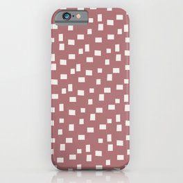 Rectangles 4 | Pattern in Neutral Rose and Cream iPhone Case