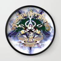 logo Wall Clocks featuring logo by Alexandr Nishikin