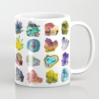 crystals Mugs featuring Crystals by ShannonPosedenti