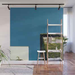 White Square, Green Square, Blue Sky Wall Mural
