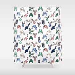 Pastel Bunnies Shower Curtain
