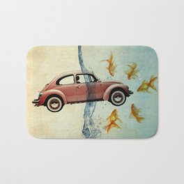 Bug and goldfish Bath Mat