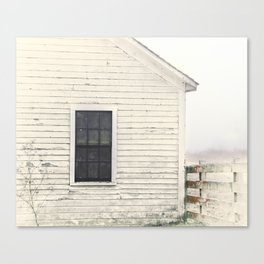 Old Window, vintage farm house Sonoma County Photography, Whitewashed - Old Fence  Canvas Print