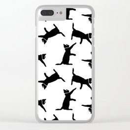 Cats on White Clear iPhone Case
