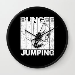 Bungee Jumping With Jumper Wall Clock