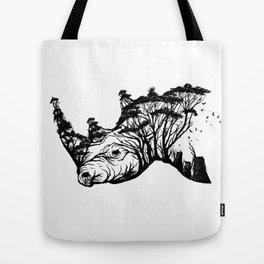 Wild Rhino Tote Bag