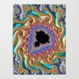 Colorful Slopes Mandelbrot Fractal Poster