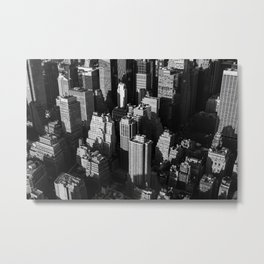 Tall buildings and skyscrapers with shadows of each other in the evening Metal Print