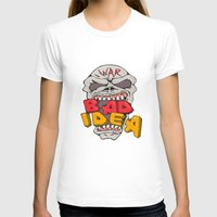 bad idea T-shirts featuring Skull War Bad Idea Cartoon by patrimonio