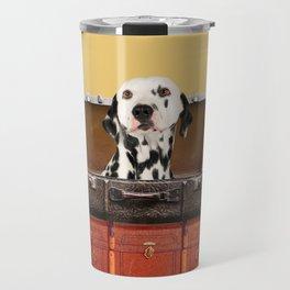 Dalmatian in suitcase - luggage with dog Travel Mug